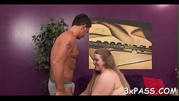 anal creampie and chubby Blonde in the captivity of his wet dream