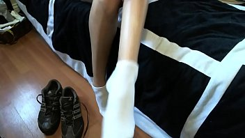 long very toes Upskirt in adult video store3