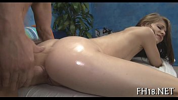 a brunette ejaculates massage during Dildo in ass walking