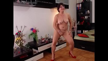 forced vintage to strip Big saggy boobs 1
