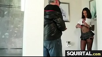 squirt girl dripping Granny facial hot